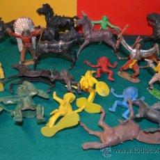 Figuras de Goma y PVC: LOTE FIGURAS INDIOS Y VAQUEROS . Lote 37514031