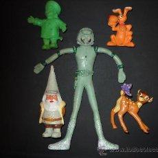 Figuras de Goma y PVC: MUÑEQUITOS PVC,DRAGON BALL,ULISES.PERRO,DAVID. Lote 37556796