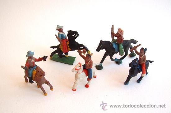 ALCA CAPELL INDIOS Y VAQUEROS LOTE TODOS MODELOS PEQUEÑOS (Juguetes - Figuras de Goma y Pvc - Capell)