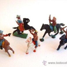 Figuras de Goma y PVC: ALCA CAPELL INDIOS Y VAQUEROS LOTE TODOS MODELOS PEQUEÑOS. Lote 200581605
