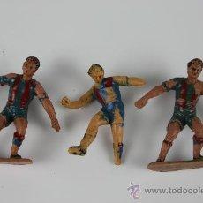 Figuras de Goma y PVC: 3 FIGURAS EN PVC DEL FUTBOL CLUB BARCELONA - POSIBLEMENTE COMANSI - AÑOS 60/70. Lote 37761339