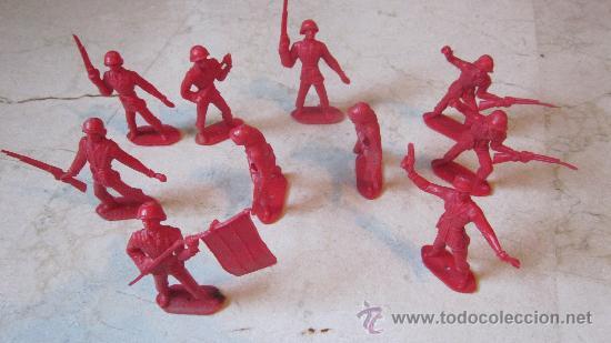 DIEZ SOLDADOS COMANSI ESPAÑOLES (Juguetes - Figuras de Goma y Pvc - Comansi y Novolinea)