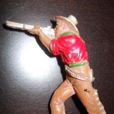 Figuras de Goma y PVC: TEIXIDO / LAFREDO VAQUERO / COWBOY EN GOMA ORIGINAL 100% AÑOS 50 . Lote 37951134
