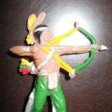 Figuras de Goma y PVC: TEIXIDO INDIO EN GOMA ORIGINAL 100% AÑOS 50 . Lote 37951151