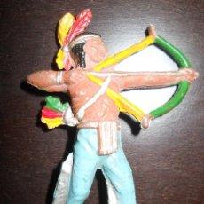 Figuras de Goma y PVC: TEIXIDO INDIO EN GOMA ORIGINAL 100% AÑOS 50 . Lote 37951167
