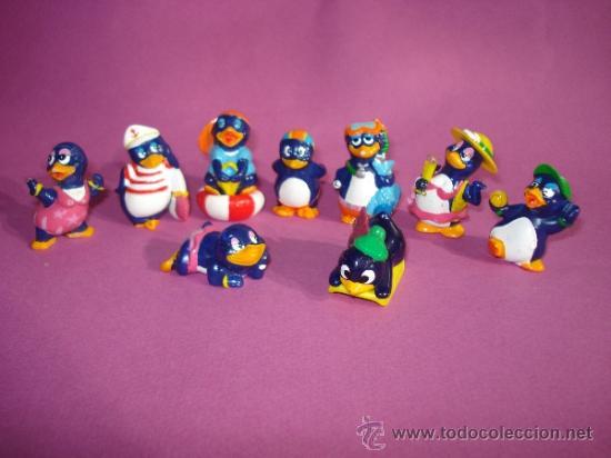 Figuras Kinder: Lote de 9 Figuras . Serie PINGÜINOS Todos Diferentes de KINDER - Foto 3 - 38014299