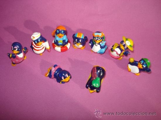 Figuras Kinder: Lote de 9 Figuras . Serie PINGÜINOS Todos Diferentes de KINDER - Foto 2 - 38014299