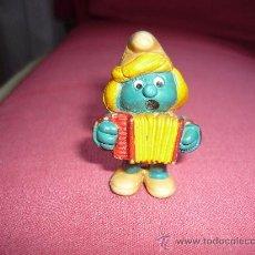 Figuras de Goma y PVC: LOS PITUFOS PITUFINA CON ACORDEON - FIGURA PVC- AÑOS 80. Lote 38102578