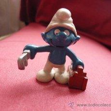 Figuras de Goma y PVC: FIGURA PVC - PITUFO / PITUFOS -FONTANERO - PEYO AÑOS 80. Lote 38107067