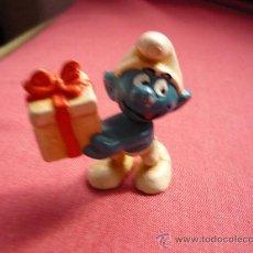 Figuras de Goma y PVC: FIGURA PVC - PITUFO / PITUFOS - BROMISTA - PEYO AÑOS 80. Lote 38109566