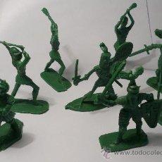 Figuras de Goma y PVC: LOTE DE 8 GUERREROS MEDIEVALES. Lote 38108525