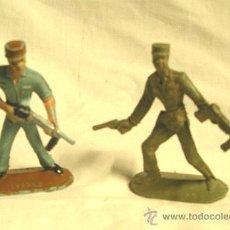 Figuras de Goma y PVC: LOTE DE 2 SOLDADOS EJERCITO CUBANO DE COMANSI. Lote 38204594