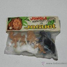 Figuras de Goma y PVC: (M) LA JUNGLA VIVIENTE DE JOGUET , ( 6 ANIMALES ) , PARA ESTRENAR. Lote 38237425