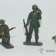 Figuras de Goma y PVC: 4 SOLDADOS DE PLASTICO, POSIBLEMENTE DE JECSAN, MIDEN 6 CMS.. Lote 38261226