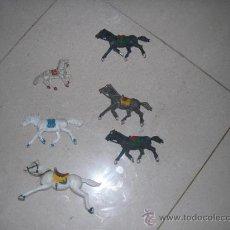 Figuras de Goma y PVC: LOTE 6 CABALLOS DE GOMA VARIAS MARCAS. NO SE CUALES SON. Lote 38309683