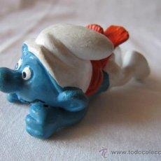 Figuras de Goma y PVC: PITUFO TRINEO (SIN TRINEO) - FIGURA PVC - SCHLEICH-PEYO - AÑOS 80. Lote 38321340
