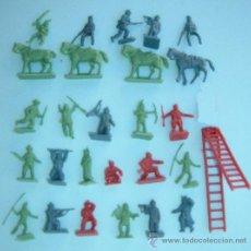 Figuras de Goma y PVC: VARIAS FIGURAS MONTAPLEX INDIOS Y VAQUEROS, AÑOS 60/70, LOTE 8. Lote 38546857
