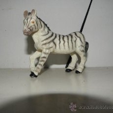 Figuras de Goma y PVC: FIGURA DE GOMA DURA PVC ANIMALES CEBRA 12 CM. Lote 38617050
