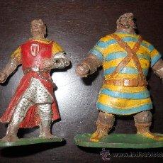 Figuras de Goma y PVC: ESTEREOPLAST - JIN : GOLIAT Y CAPITAN TRUENO EN GOMA AÑOS 50 . Lote 38977193