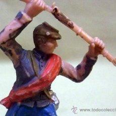 Figuras de Goma y PVC: FIGURA DE PLASTICO, FABRICADO POR REAMSA, SOLDADO CONFEDERADO, 1970S. Lote 38987014