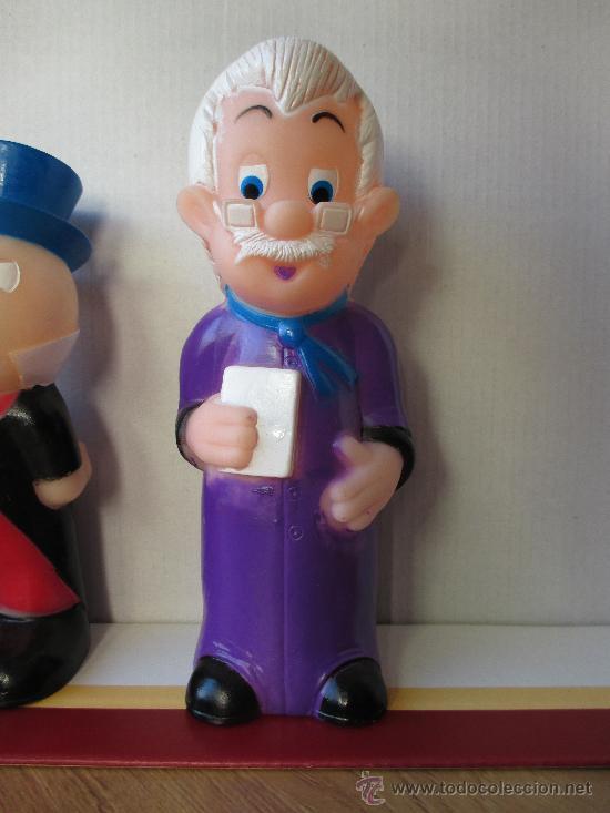 Figuras de Goma y PVC: LOTE 3 MUÑECOS DE GOMA PINOCHO GEPETTO Y PEPITO GRILLO - Foto 2 - 39079729
