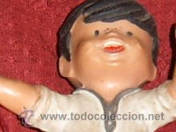 Figuras de Goma y PVC: FIGURA NIÑO EN GOMA PVC DE JUGADOR DE FUTBOL AÑOS 50-60.UNA JOYA!!. - Foto 2 - 39140527