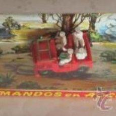 Figuras de Goma y PVC: COMANDOS EN ACCION,DE LA FABRICA TORRES MALTAS, BARCELONA, AÑOS 60, PINTADOS A MANO. CC. . Lote 39163345
