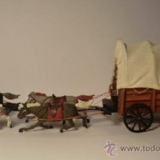 PECH. Carreta Oeste. Años 50. 1a.serie. Madera, hierro y goma. Estado perfecto. Carromato.Caravana.