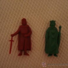 Figuras de Goma y PVC: SERIE RUY EL PEQUEÑO CID. 2 FIGURAS DE PLÁSTICO PREMIUM. DUNKIN. SOLDADO Y REY. Lote 39226800