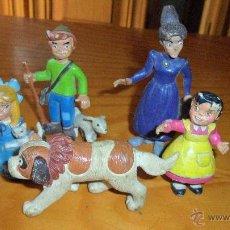 Figuras de Goma y PVC: LOTE FAMILIA COMPLETA HEIDI FIGURAS ORIGINALES 80'S, COMICS SPAIN. Lote 39329193