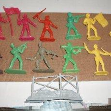 Figuras de Goma y PVC: SOLDADOS COMANSI,ESPAÑOLES Y NORTEAMERICANOS MAS VALLA ,LOTE 12. Lote 30276349
