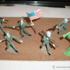 Figuras de Goma y PVC: LOTE DE SOLDADOS COMANSI NORTE AMERICANO,SOLDADO ABANDERADO. Lote 34450327