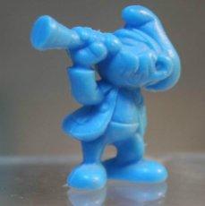 Figuras de Goma y PVC: DUNKIN FIGURA DE LOS PITUFOS, CORNETA. Lote 39425406