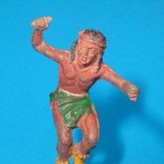 Figuras de Goma y PVC: ANTIQUISIMO INDIO EN GOMA DE LAFREDO, COMO . AÑOS 50 / 60,JECSAN.. Lote 39499214