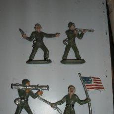 Figuras de Goma y PVC: SOLDADOS AMERICANO COMANSI CON OFICIAL,SOLDADO Y ABANDERADO. Lote 39709638
