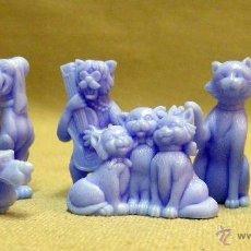 Figuras de Goma y PVC: 6 FIGURAS DE PLASTICO PREMIUM, RARA SERIE COMPLETA, ARISTOGATOS. Lote 39897987