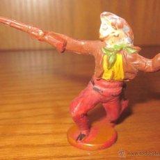 Figuras de Goma y PVC: VAQUERO DE GAMA,FABRICADO EN GOMA,AÑOS 50. Lote 39767731