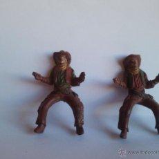Figuras de Goma y PVC: 2 FIGURAS ANTIGUAS VAQUEROS GOMA AÑOS 50 REAMSA. Lote 39789901