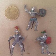 Figuras de Goma y PVC: FIGURAS (3) PLASTICO MEDIEVALES. Lote 39809347