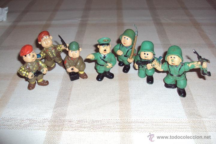 LOTE MUÑECOS DE GOMA HITLER Y SOLDADOS NAZIS - MUY RARO - DIFÍCIL DE CONSEGUIR - VER FOTOS (Juguetes - Figuras de Goma y Pvc - Otras)