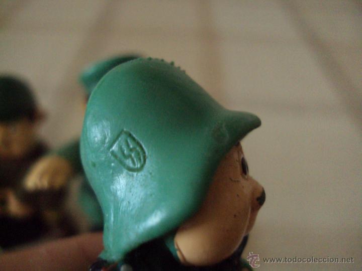 Figuras de Goma y PVC: Lote Muñecos de Goma Hitler y Soldados Nazis - Muy Raro - Difícil de Conseguir - Ver Fotos - Foto 2 - 39855741
