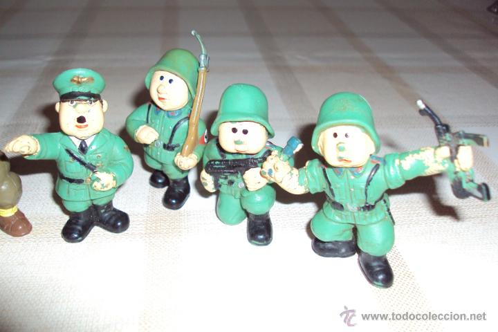 Figuras de Goma y PVC: Lote Muñecos de Goma Hitler y Soldados Nazis - Muy Raro - Difícil de Conseguir - Ver Fotos - Foto 5 - 39855741