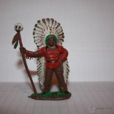 Figuras de Goma y PVC: JEFE INDIO GOMA. Lote 40070300