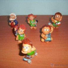 Figuras Kinder: TRIBUGUAY - LOTE DE 6 FIGURAS - SALÍAN EN HUEVOS KINDER - LOS TRIBU GUAY - TRIBU GUAYS. Lote 40292160