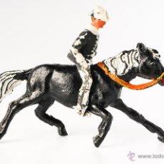 Figuras de Goma y PVC: FIGURA PLASTICO CABALLO CON JINETE. Lote 40405873