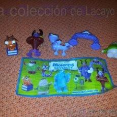 Figuras Kinder: 5 FIGURAS HUEVOS KINDER MONSTERS UNIVERSITY. Lote 40759941