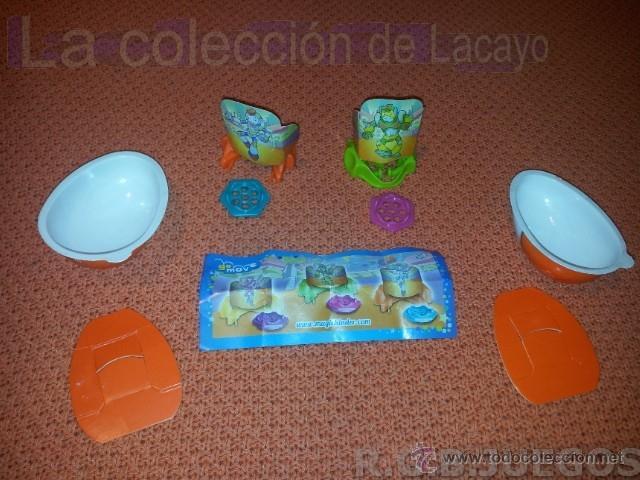 2 FIGURAS HUEVOS KINDER LANZADORES (Juguetes - Figuras de Gomas y Pvc - Kinder)