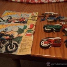 Figuras de Goma y PVC: LOTE DE DOS SOBRES DE MOTOS MONTAPLEX (YAMAHA Y LAVERDA) Y TRES MOTOS INCOMPLETAS CON PIEZAS SUELTAS. Lote 40841324