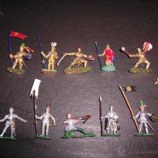 Figurines en Caoutchouc et PVC: MARX TOYS LOTE 11 CABALLEROS MEDIEVALES DE 3,5 CM IDEAL EXIN CASTILLOS AÑOS 60 COMPUESTO DURO. PTOY. Lote 40867161