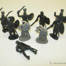 Figuras de Goma y PVC: LOTE FIGURAS PLÁSTICO CABALLEROS MEDIEVALES. Lote 40869876